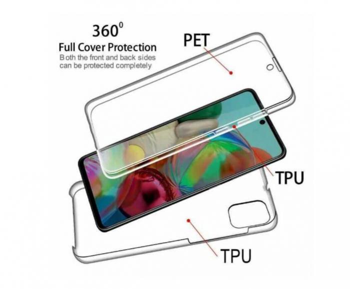 Husa Samsung Galaxy S20 Plus Full Cover 360 Grade Transparenta 1