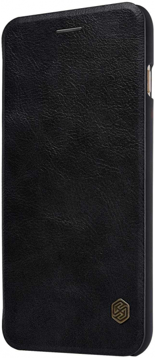 Husa Samsung Galaxy S20 Ultra 2020 Negru Toc Flip Nillkin Qin Piele Eco Premium Tip Carte Portofel [2]
