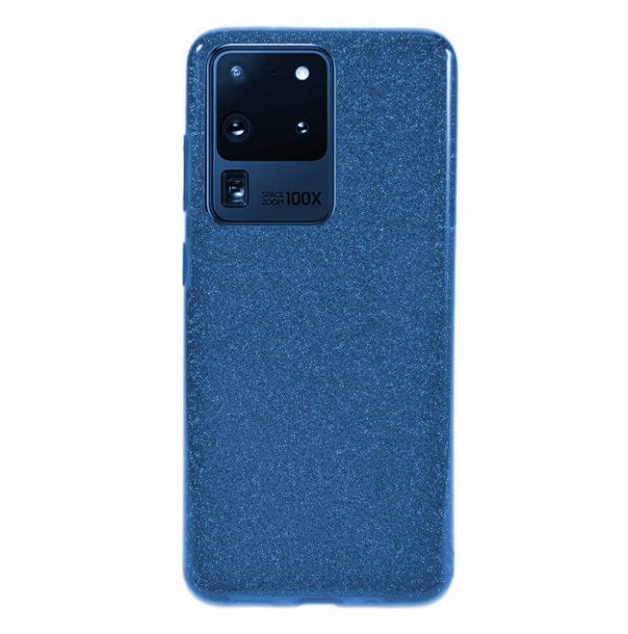 Husa Samsung Galaxy S20 Ultra 2020 Sclipici Carcasa Spate Albastru Silicon TPU [0]