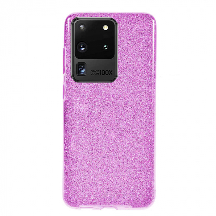 Husa Samsung Galaxy S20 Ultra 2020 Sclipici Carcasa Spate Mov Silicon TPU [0]