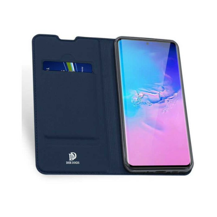 Husa Samsung Galaxy S20 Ultra 2020 Toc Flip Tip Carte Portofel Bleumarin Piele Eco DuxDucis 1