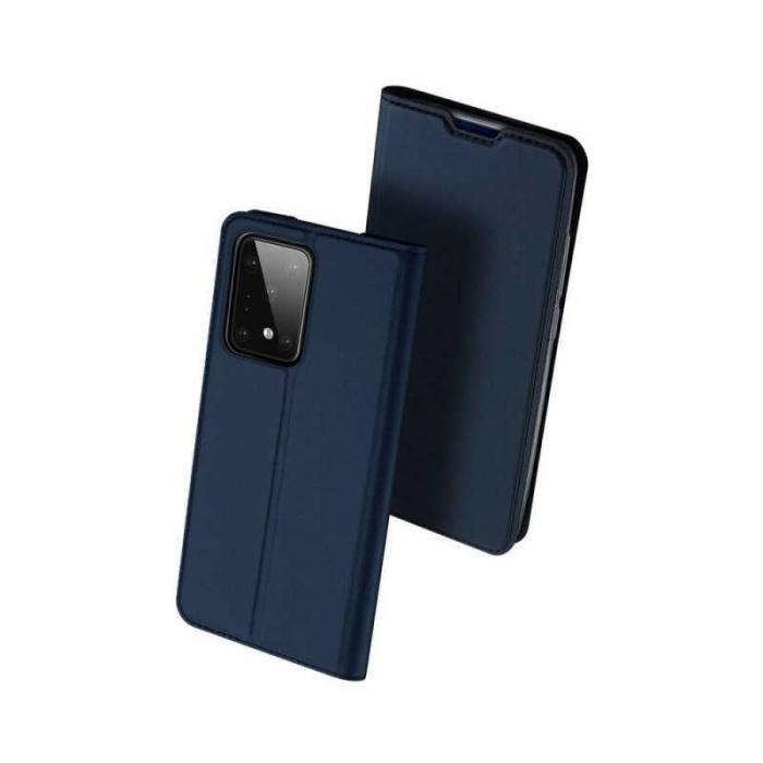 Husa Samsung Galaxy S20 Ultra 2020 Toc Flip Tip Carte Portofel Bleumarin Piele Eco DuxDucis 0