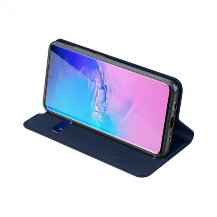 Husa Samsung Galaxy S20 Ultra 2020 Toc Flip Tip Carte Portofel Bleumarin Piele Eco DuxDucis 2