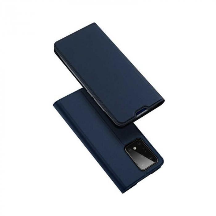 Husa Samsung Galaxy S20 Ultra 2020 Toc Flip Tip Carte Portofel Bleumarin Piele Eco DuxDucis 4