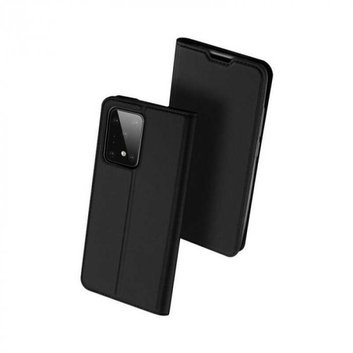 Husa Samsung Galaxy S20 Ultra 2020 Toc Flip Tip Carte Portofel Negru Piele Eco DuxDucis [0]