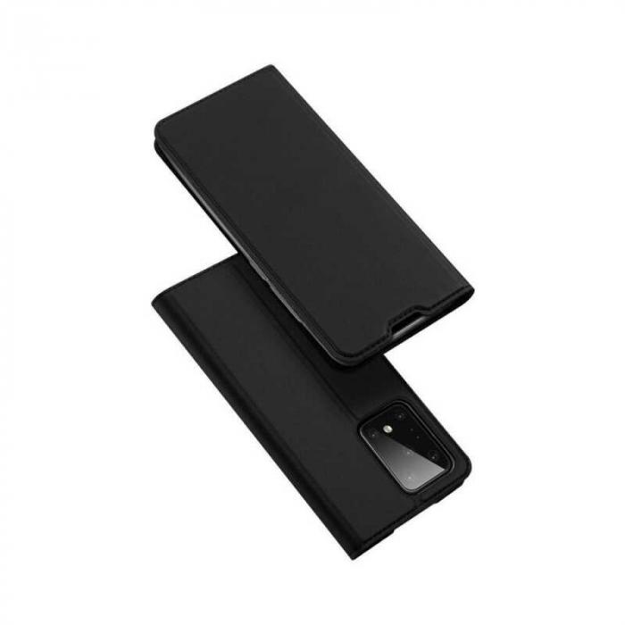 Husa Samsung Galaxy S20 Ultra 2020 Toc Flip Tip Carte Portofel Negru Piele Eco DuxDucis [4]