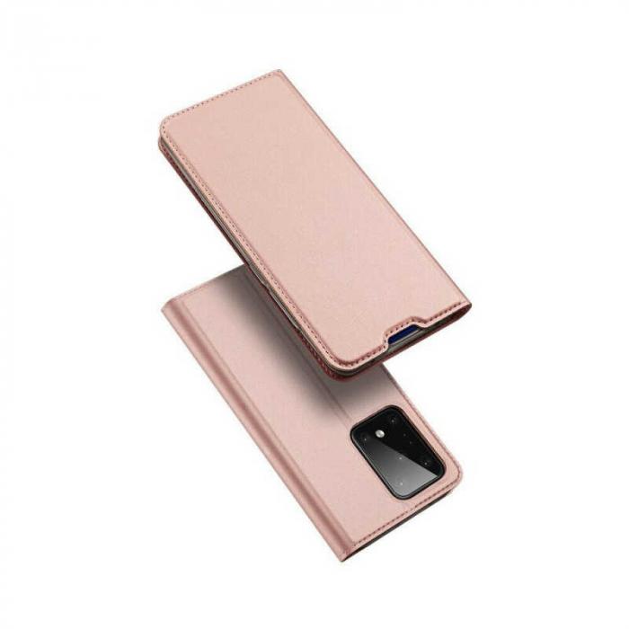 Husa Samsung Galaxy S20 Ultra 2020 Toc Flip Tip Carte Portofel Roz Piele Eco DuxDucis [4]