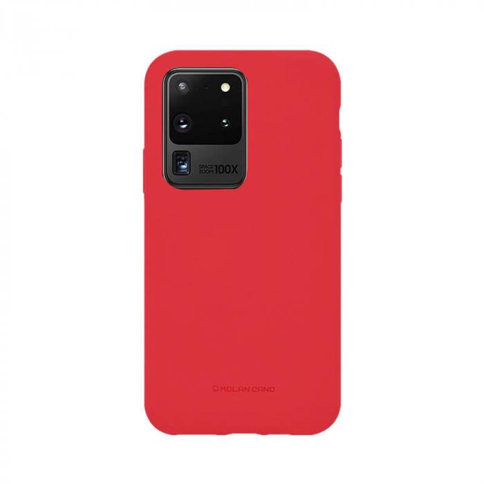 Husa Samsung Galaxy S20 Ultra Silicon Rosu Molan Cano [0]