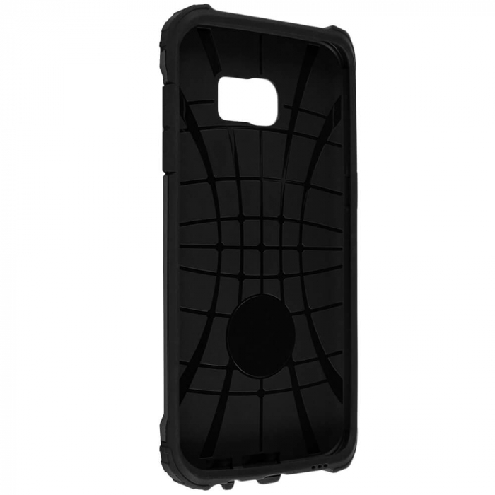 Husa Samsung Galaxy S7 Silicon Antisoc Negru Hybrid Armor 4
