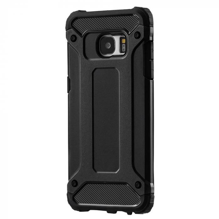 Husa Samsung Galaxy S7 Silicon Antisoc Negru Hybrid Armor 8