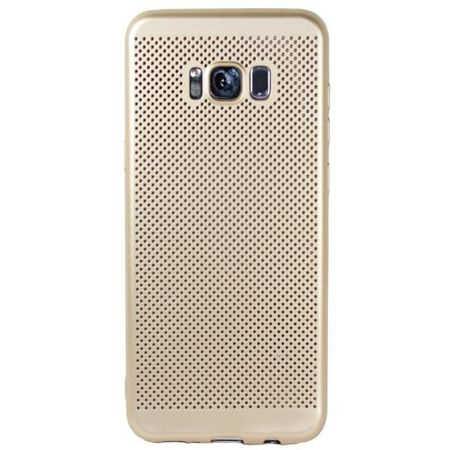 Husa Samsung Galaxy S8 2017 Carcasa Spate Perforata Auriu Gold 1