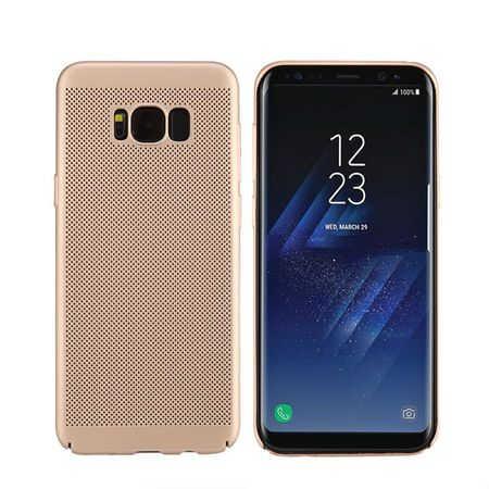 Husa Samsung Galaxy S8 2017 Carcasa Spate Perforata Auriu Gold 0