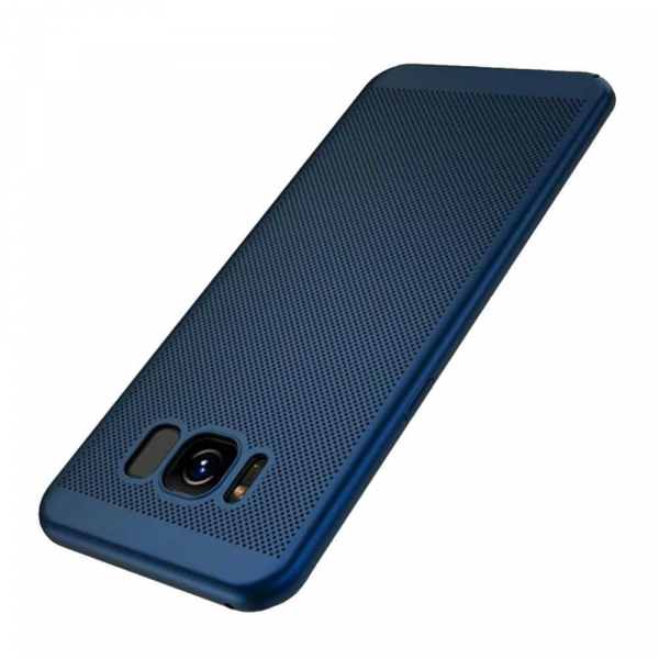Husa Samsung Galaxy S8 2017 Carcasa Spate Perforata Bleumarin [0]