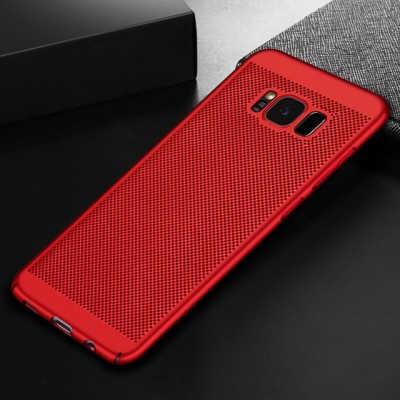 Husa Samsung Galaxy S8 2017 Carcasa Spate Perforata Rosu 1