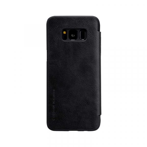 Husa Samsung Galaxy S8 2017 Negru Toc Flip Nillkin Qin Piele Eco Premium Tip Carte Portofel 1