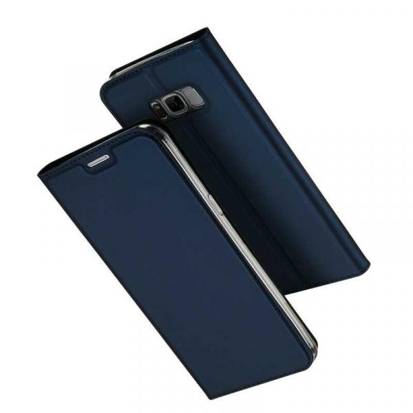Husa Samsung Galaxy S8 2017 Toc Flip Portofel Bleumarin Piele Eco DuxDucis 0