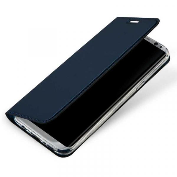 Husa Samsung Galaxy S8 2017 Toc Flip Portofel Bleumarin Piele Eco DuxDucis 1