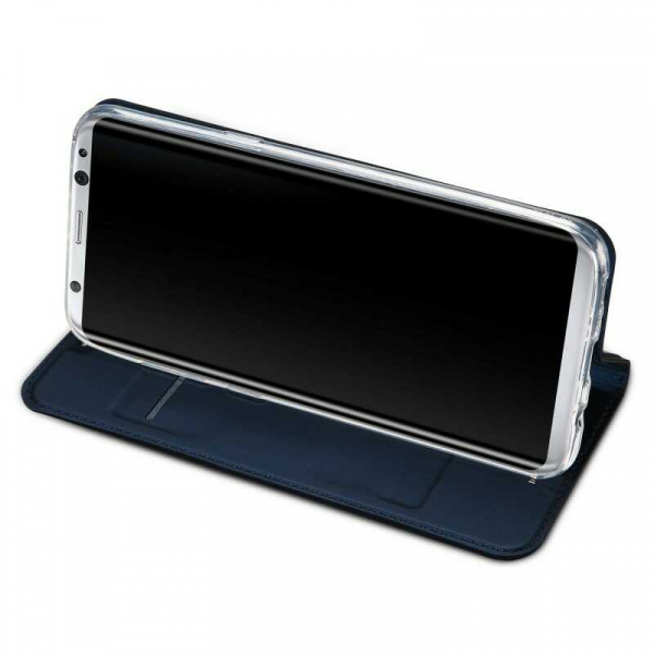 Husa Samsung Galaxy S8 2017 Toc Flip Portofel Bleumarin Piele Eco DuxDucis 2