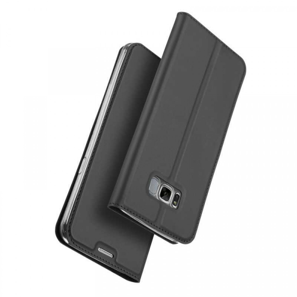 Husa Samsung Galaxy S8 2017 Toc Flip Portofel Negru Piele Eco DuxDucis [3]