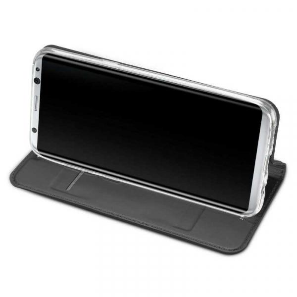 Husa Samsung Galaxy S8 2017 Toc Flip Portofel Negru Piele Eco DuxDucis [2]