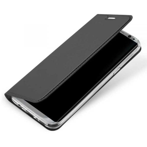 Husa Samsung Galaxy S8 2017 Toc Flip Portofel Negru Piele Eco DuxDucis 4