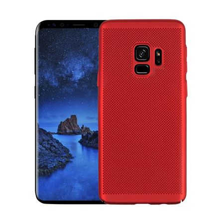 Husa Samsung Galaxy S9 2018 Carcasa Spate Perforata Rosu [0]