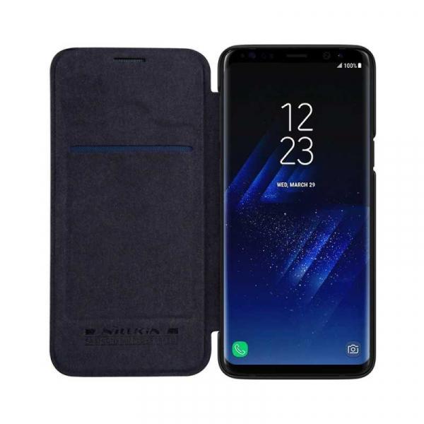 Husa Samsung Galaxy S9 2018 Negru Toc Flip Nillkin Qin Piele Eco Premium Tip Carte Portofel 2
