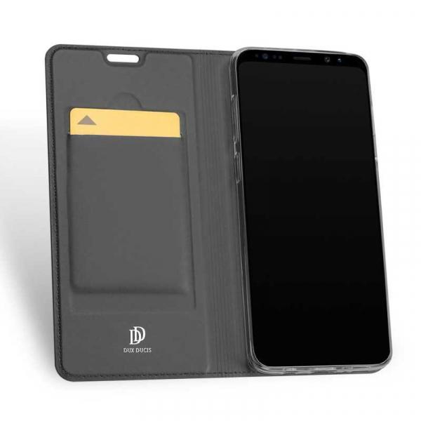 Husa Samsung Galaxy S9 2018 Toc Flip Tip Carte Portofel Piele Eco Premium DuxDucis Negru 1