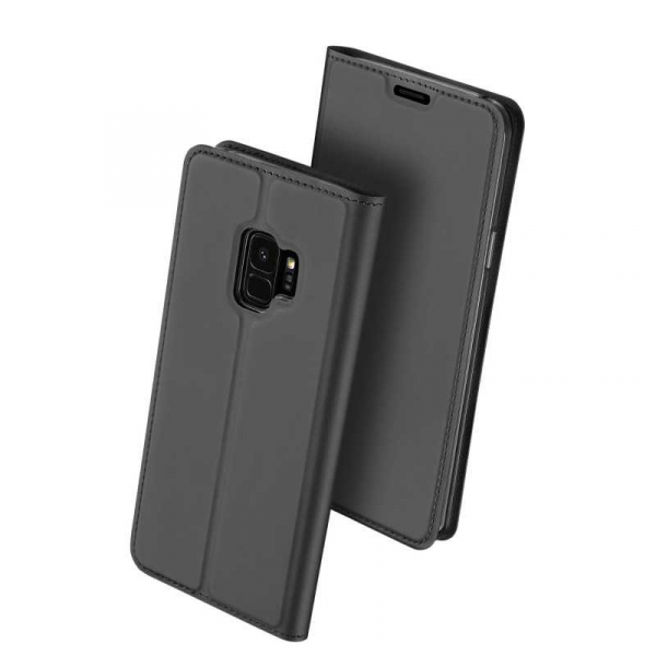 Husa Samsung Galaxy S9 2018 Toc Flip Tip Carte Portofel Piele Eco Premium DuxDucis Negru 0
