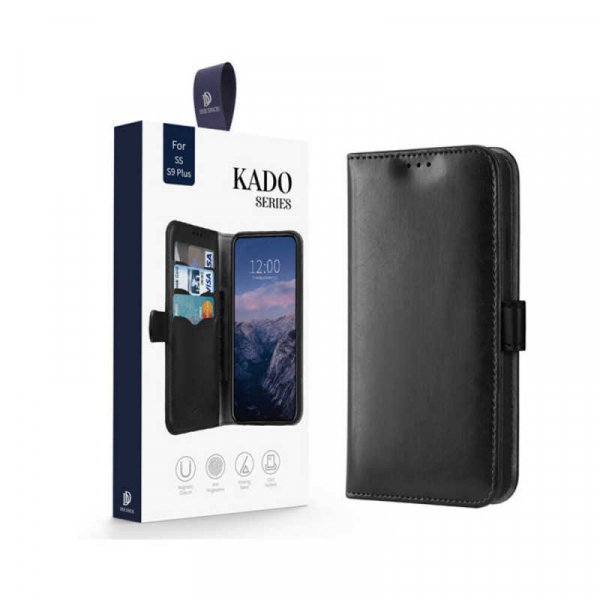 Husa Samsung Galaxy S9 Plus 2018 Toc Flip Tip Carte Portofel Negru Piele Eco Premium DuxDucis Kado 7