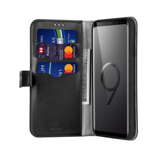 Husa Samsung Galaxy S9 Plus 2018 Toc Flip Tip Carte Portofel Negru Piele Eco Premium DuxDucis Kado 1
