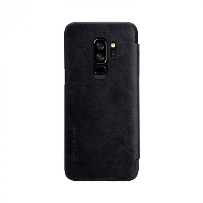 Husa Flip Samsung Galaxy S9 Plus Negru Tip Carte Magnetica Nillkin Qin [2]