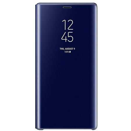 Husa Samsung J3 2017 Clear View Flip Toc Carte Standing Cover Oglinda Albastra 0