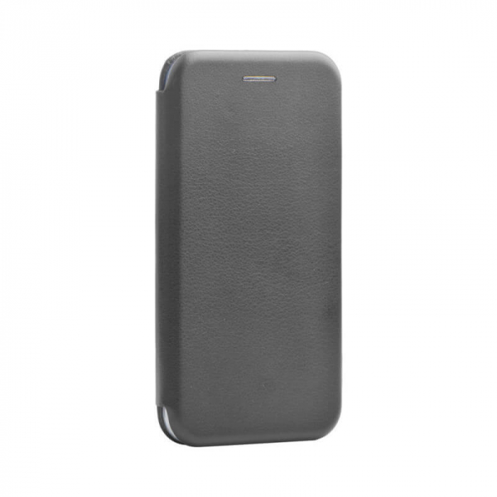 Husa Xiaomi Redmi 9A Gri Tip Carte Flip Cover din Piele Ecologica Portofel cu Inchidere Magnetica [0]
