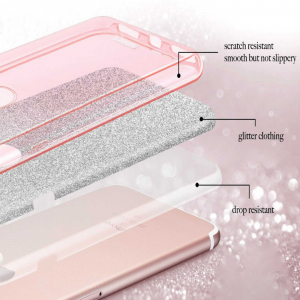 Husa Samsung Galaxy A40 2019 Sclipici TPU Carcasa Roz [3]