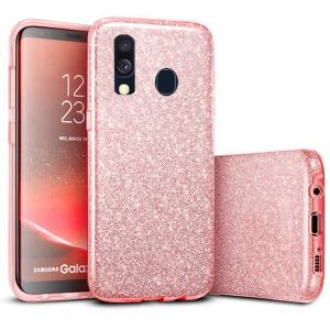 Husa Samsung Galaxy A40 2019 Sclipici TPU Carcasa Roz [0]