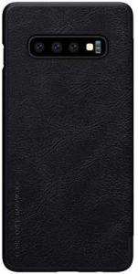 Husa Flip Samsung Galaxy S10 Plus Negru Tip Carte Magnetica Nillkin Qin2