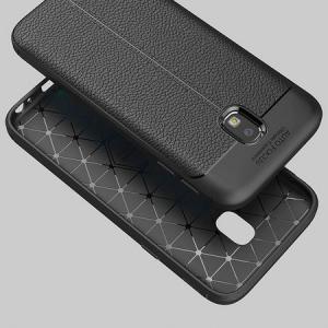 Husa Samsung Galaxy J7 2017 Silicon TPU Colorat Negru-Autofocus Black3