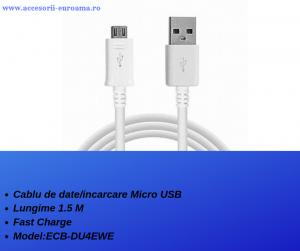 Cablu de date / incarcare Micro USB la USB 1.5M lungime Fast Charge Alb ECB-DU4EWE2