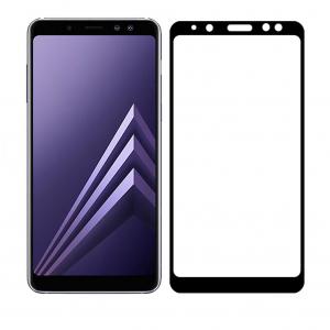 Folie Sticla Full Cover 3d Glass pentru Samsung Galaxy J4+ Plus 2018 / J4 Prime Black Neagra1
