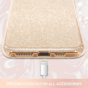 "Husa Apple iPhone 11 6.1"" Color Silicon TPU Carcasa Sclipici Auriu Gold [1]"