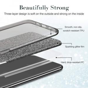 Husa Apple iPhone 11 Color Silicon Sclipici Negru2