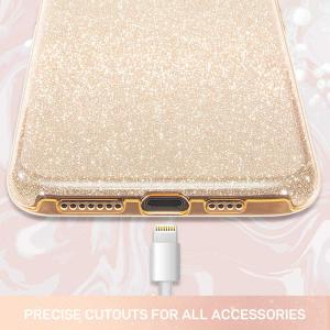 "Husa Apple iPhone 11 Pro 5.8"" Color Silicon TPU Carcasa Sclipici Auriu Gold4"