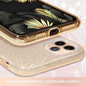 "Husa Apple iPhone 11 Pro 5.8"" Color Silicon TPU Carcasa Sclipici Auriu Gold3"