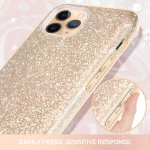 "Husa Apple iPhone 11 Pro 5.8"" Color Silicon TPU Carcasa Sclipici Auriu Gold2"
