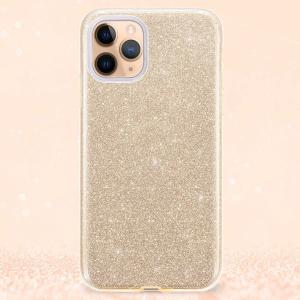 "Husa Apple iPhone 11 Pro 5.8"" Color Silicon TPU Carcasa Sclipici Auriu Gold5"
