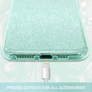 "Husa Apple iPhone 11 Pro 5.8"" Color Silicon TPU Carcasa Sclipici Verde5"