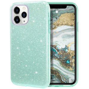 "Husa Apple iPhone 11 Pro 5.8"" Color Silicon TPU Carcasa Sclipici Verde0"