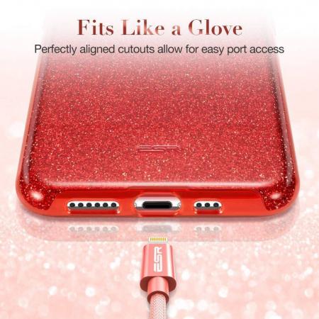 Husa Apple iPhone 11Pro Sclipici Rosu Silicon1
