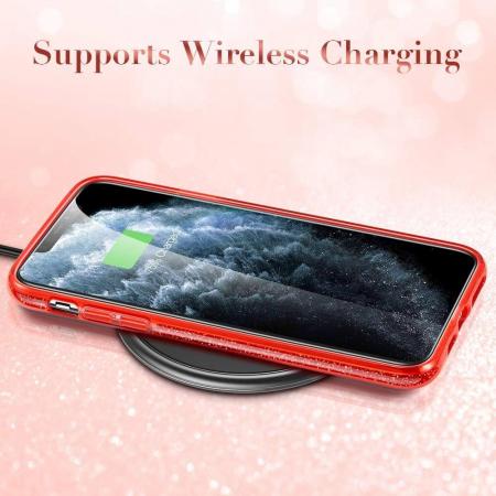 Husa Apple iPhone 11Pro Sclipici Rosu Silicon2